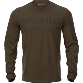 Härkila Mountain Hunter L/S t-shirt - Hunting green/Shadow brown