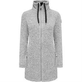 Weather Report Judy W Fleece - Light Grey Melange