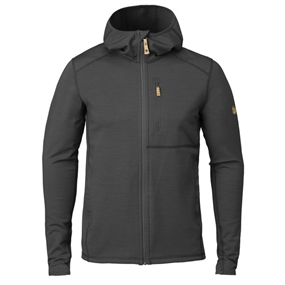 Fjällräven Keb Fleece Hoodie - Dark Grey-Black