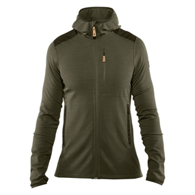 Fjällräven Keb Fleece Hoodie - Laurel Green-deep