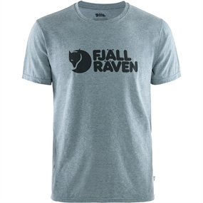 Fjällräven Logo T-Shirt - Uncle Blue-meleret