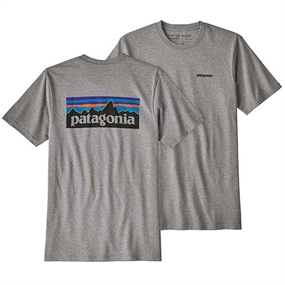 Patagonia Logo Responsibili-Tee T-Shirt - Gravel Heather