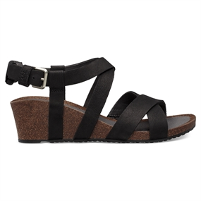 Teva Mahonia Wedge Cross Strap W Sandal - Sort