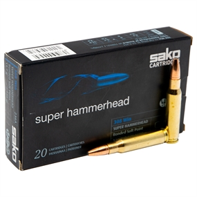 Sako Super Hammerhead Bonded Soft Point Riffelpatroner - Kal. 308 win