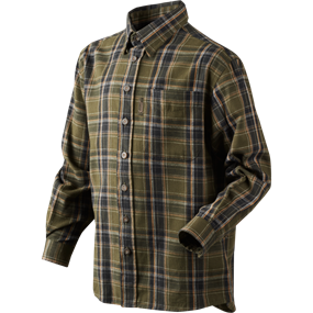 Seeland Edwin Kids skjorte - Shaded olive check