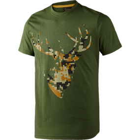 Seeland T-shirt Camo Stag - Bottle green melange