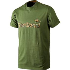 Seeland T-shirt Camo Seeland - Bottle green melange