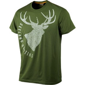 Seeland T-shirt Fading Stag - Bottle green melange