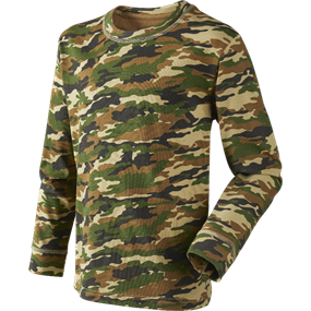 Seeland Speckled kids L/S T-shirt - camo