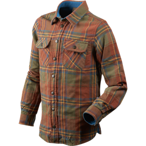 Seeland Nolan Kids skjorte - Sequoia rust check