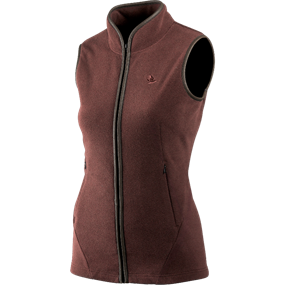 Seeland Bolton Lady fleece vest - Bitter chocolate