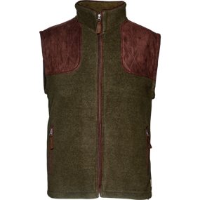 Seeland William II fleece  vest - Pine green