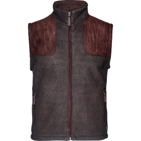 Seeland William II fleece  vest - Moose brown