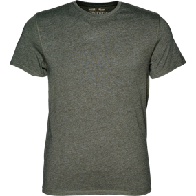 Seeland Seeland Basic 2-pack T-shirt - Moose brown/Forest night
