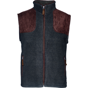 Seeland William II fleece  vest - Navy blue