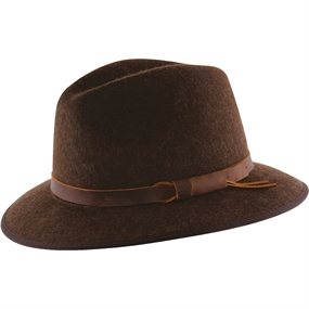 MJM Stengs Hat - Brown Melange