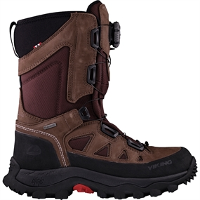 Viking Villrein Boa GTX Jagtstøvle - Dark Brown/Red